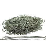 """100 Pack - Silver Stainless Steel Long Fashion Bead Chain Necklace (24"""") - $39.99"""