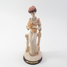 Marlo Collection by Artmark Figurine of Victorian Lady Holding a Yellow Cat image 1