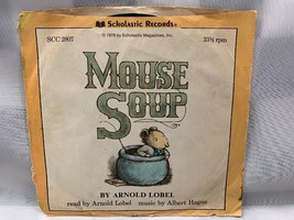 MOUSE SOUP Arnold Lobel Albert Hague Scholastic 45 Rpm Vinyl Record - $2.51