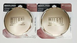 Milani Smooth Finish Cream Powder Makeup 04 COCOA MOCHA 0.28Oz - Sealed - $33.66
