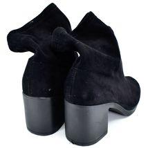 Boohoo Black Velvet Heel Boots UK 8  |EUR 41 | US10 image 3