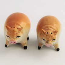 TRUE VINTAGE MADE IN JAPAN CERAMIC PIG SALT & PEPPER SHAKERS - $15.00