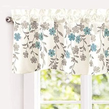 DriftAway Isabella Faux Silk Embroidered Kitchen Swag Valance, Embroider... - $24.65