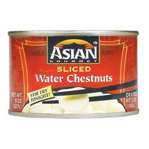 Asian Gourmet Waterchestnuts - Sliced - Case of 12 - 8 oz - $27.96