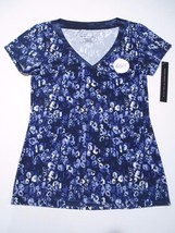 Alfani, Women's Printed Pajama Top, Blue,  Sz. XSmall - $17.33