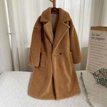 Luxury Fashion Leopard Long Thick  Faux Fur Teddy Bear Coat image 7