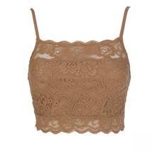 Rhonda Shear Women's Lace Camisole Bra Large Nude - $14.00
