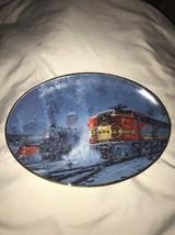 The Hamilton Collection Snowy Passages Westward Bound Train Plate - $9.74