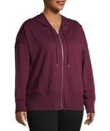 Terra & Sky Women's Plus Athleisure Hoodie Size 5X (32-34W) Purple Wine ... - $26.72