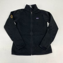 Patagonia Zip Up Jacket Women's Small Long Sleeve Black Mock Neck Polyester - $29.99