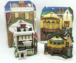 2 Dept 56 Charles Dickens Christmas Ornaments 1992 1996 Grape Inn Crown Cricket - $14.95