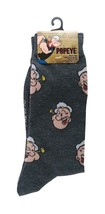 POPEYE Socks sz M/L Medium/Large (6-12) Grey - $17.99