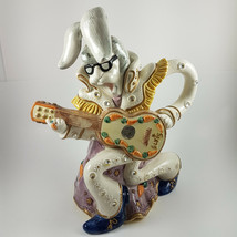 Fitz & Floyd RARE Elvis Presley Bunny Rabbit Ceramic Water Pitcher Large Vintage - $243.63