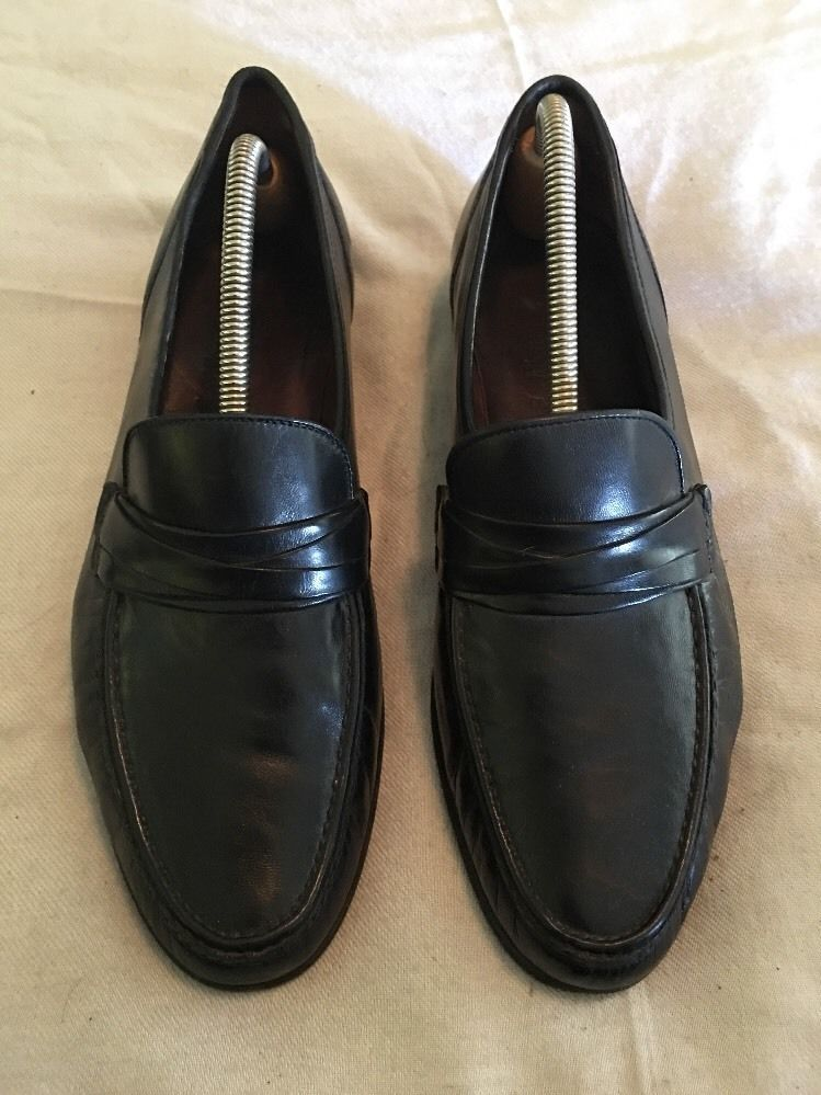 Allen Edmonds Bergamo Italian loafers - Men s sz 9.5 D - Black Leather a52c0a812f9