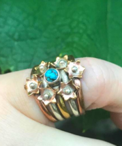 Special Sale, Adorable Blue Turquoise Ring, 925 Silver and Copper, Size ... - $18.40