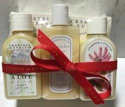 CRABTREE & EVELYN Mini Gift Set 2 Regular Soaps Bars 3 Mini Bottles Body... - $9.79