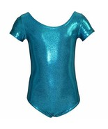 Stretch is Comfort Girl's Mystique Spandex Leotards Ocean Blue X Small - $18.05