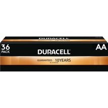 NEW Duracell Coppertop AA Alkaline Batteries, Pack Of 36 - $21.75