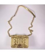 Rebecca Minkoff Clutch Mini Quilted Love Purse Gold Leather Crossbody Ha... - $83.79