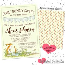 Guess how much i love you baby shower Invitation PRINTABLE FREE Thank you - £10.67 GBP