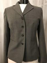 Ann Taylor Loft Women's Blazer Gray Wool Fully Lined 4 Button Size 4  - $29.69