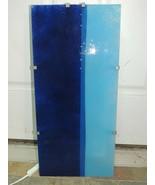 "Art Glass Wall Light Lamp 22""x 10"" Blue electric modern stained Gyllen Ikea - $67.49"