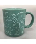 Taylor  & Ng Elephant Orgy Naughty Coffee Mug Cup 8 oz Green 1979  - $29.89