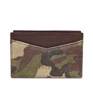 Fossil Gordon Card Case Camouflage, ML3663B346 Leather - ₹1,790.25 INR