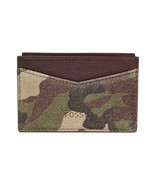 Fossil Gordon Card Case Camouflage, ML3663B346 Leather - $25.00