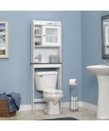 Bathroom Space Saver Cabinet Bath Storage Shelves Toilet Organiser Shelf... - $96.99