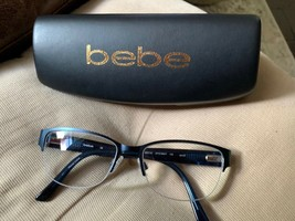 bebe Eyeglass Frames BB5124. 17-135 Navy blue with bling. LN - $40.00