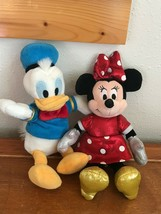 Gently Used Ty Sparkle Disney Plush Minnie Mouse & Donald Duck Stuffed A... - $9.49