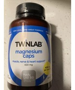100 /TwinLab Magnesium Dietary Supplement Caps. Muscle, Nerve and Heart ... - $18.71