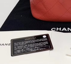 100% AUTHENTIC CHANEL 2018/2019 RED QUILTED CALFSKIN BACKPACK SHW image 7