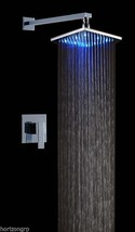 Led Shower Set with 8-Inch Shower Head Temperature Changing Color Sensor - $217.77