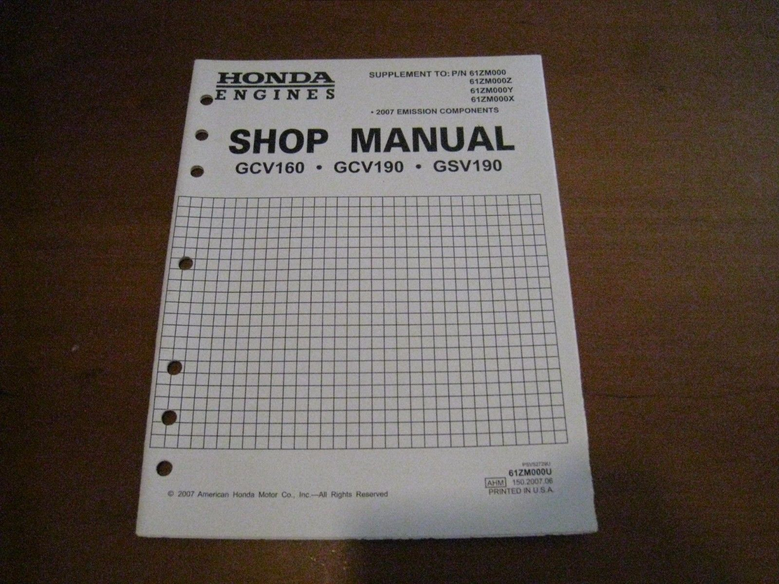 Honda Engines OEM Shop Manual GCV160 GCV190 and similar items. 57