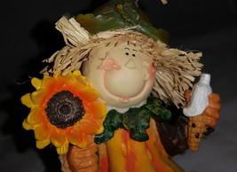 Fall Harvest Scarecrow Kid Clown Figurine - $6.95