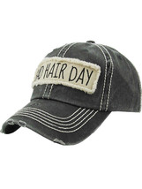 Distressed Vintage Style Bad Hair Day Hat Baseball Cap Runner Active Wear image 2