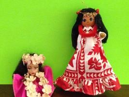 Vintage Hawaiian Hula Figurines Wearing Traditional Clothing Collectible... - $6.26