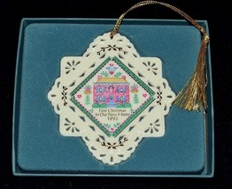 LENOX White First Christmas in Our New Home Christmas Ornament in Box  n - $9.87