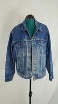 Mens Levis Jacket Blue Jean Denim Trucker Coat Made in USA Size 46 - $52.25
