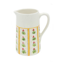 Hand-painted Decorative Ceramic Pitcher Made in Portugal - Yellow - $32.95