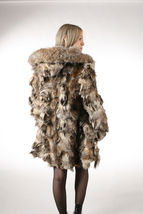 Lynx Fur Coat Hooded Sectional image 6