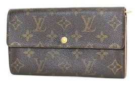 Authentic LOUIS VUITTON Long Wallet Monogram Zippered Coin Purse #37920 - $149.00