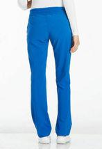 Cherokee Scrubs Mid Rise Straight Leg Pull-On Petite Pant - XS - ROY Royal NEW image 5
