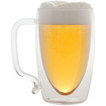 Starfrit 17-ounce Double-wall Glass Beer Mug SRFT80061 - $25.22
