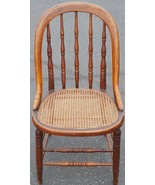 Antique All Wood Bow Back Side Chair - Woven Cane Seat - GDC - CLASSIC C... - $128.69