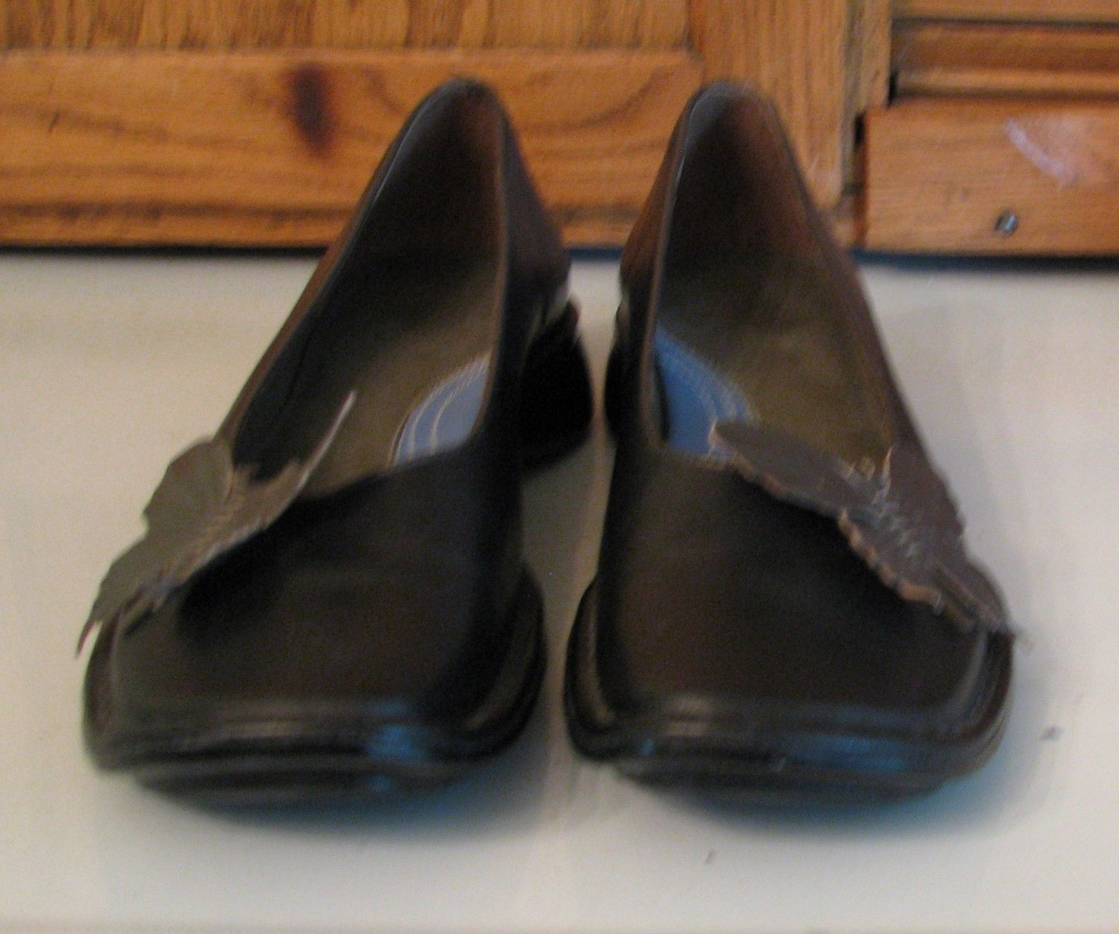 SHOES Clarks Indigo Black Leather  Cute Butterfly Accent Woman's 7 M Flats