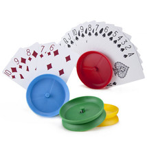 Set of 4 Circle-shaped Hands-free Playing Card Holders - NEW - - $4.99
