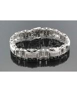 14k White Gold & Diamonds Men's Bracelet 51.6g 2.20 TCW G-H SI1-SI3   #3... - $3,464.99